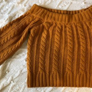 ✨Off Shoulder Sweater